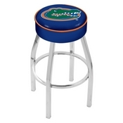 L8C1 - 4 Florida Cushion Seat with Chrome Base Swivel Bar Stool by Holland Bar Stool Company