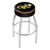 L8C1 - 4 Georgia Tech Cushion Seat with Chrome Base Swivel Bar Stool by Holland Bar Stool Company