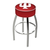 L8C1 - 4 Indiana Cushion Seat with Chrome Base Swivel Bar Stool by Holland Bar Stool Company