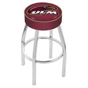 L8C1 - 4 Louisiana-Monroe Cushion Seat with Chrome Base Swivel Bar Stool by Holland Bar Stool Company