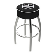 L8C1 - 4 Los Angeles Kings Cushion Seat with Chrome Base Swivel Bar Stool by Holland Bar Stool Company
