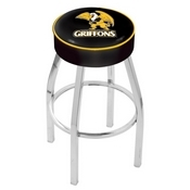 L8C1 - 4 Missouri Western State Cushion Seat with Chrome Base Swivel Bar Stool by Holland Bar Stool Company