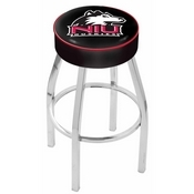 L8C1 - 4 Northern Illinois Cushion Seat with Chrome Base Swivel Bar Stool by Holland Bar Stool Company