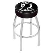 L8C1 - 4 POW/MIA Cushion Seat with Chrome Base Swivel Bar Stool by Holland Bar Stool Company