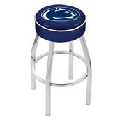 L8C1 - 4 Penn State Cushion Seat with Chrome Base Swivel Bar Stool by Holland Bar Stool Company