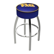 L8C1 - 4 Pitt Cushion Seat with Chrome Base Swivel Bar Stool by Holland Bar Stool Company