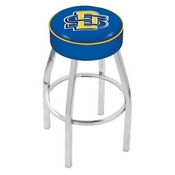 L8C1 - 4 South Dakota State Cushion Seat with Chrome Base Swivel Bar Stool by Holland Bar Stool Company