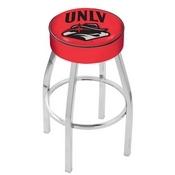 L8C1 - 4 UNLV Cushion Seat with Chrome Base Swivel Bar Stool by Holland Bar Stool Company