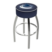 L8C1 - 4 Vancouver Canucks Cushion Seat with Chrome Base Swivel Bar Stool by Holland Bar Stool Company