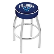 L8C1 - 4 Villanova Cushion Seat with Chrome Base Swivel Bar Stool by Holland Bar Stool Company