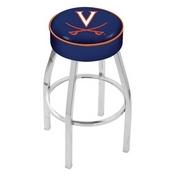 L8C1 - 4 Virginia Cushion Seat with Chrome Base Swivel Bar Stool by Holland Bar Stool Company