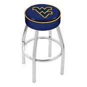 L8C1 - 4 West Virginia Cushion Seat with Chrome Base Swivel Bar Stool by Holland Bar Stool Company
