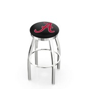 L8C2C - Chrome Alabama Swivel Bar Stool with Accent Ring by Holland Bar Stool Company (ALogo)