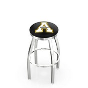 L8C2C - Chrome Appalachian State Swivel Bar Stool with Accent Ring by Holland Bar Stool Company