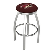 L8C2C - Chrome Arizona Coyotes Swivel Bar Stool with Accent Ring by Holland Bar Stool Company