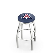 L8C2C - Chrome Arizona Swivel Bar Stool with Accent Ring by Holland Bar Stool Company