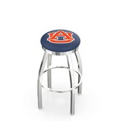L8C2C - Chrome Auburn Swivel Bar Stool with Accent Ring by Holland Bar Stool Company