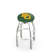 L8C2C - Chrome Baylor Swivel Bar Stool with Accent Ring by Holland Bar Stool Company