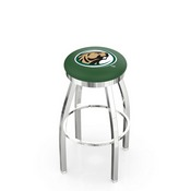 L8C2C - Chrome Bemidji State Swivel Bar Stool with Accent Ring by Holland Bar Stool Company