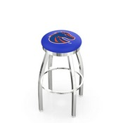 L8C2C - Chrome Boise State Swivel Bar Stool with Accent Ring by Holland Bar Stool Company