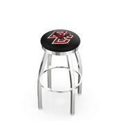 L8C2C - Chrome Boston College Swivel Bar Stool with Accent Ring by Holland Bar Stool Company