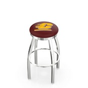 L8C2C - Chrome Central Michigan Swivel Bar Stool with Accent Ring by Holland Bar Stool Company