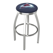 L8C2C - Chrome Colorado Avalanche Swivel Bar Stool with Accent Ring by Holland Bar Stool Company