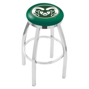 L8C2C - Chrome Colorado State Swivel Bar Stool with Accent Ring by Holland Bar Stool Company