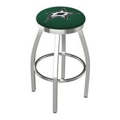 L8C2C - Chrome Dallas Stars Swivel Bar Stool with Accent Ring by Holland Bar Stool Company