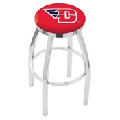 L8C2C - Chrome University of Dayton Swivel Bar Stool with Accent Ring by Holland Bar Stool Company
