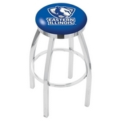 L8C2C - Chrome Eastern Illinois Swivel Bar Stool with Accent Ring by Holland Bar Stool Company