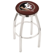 L8C2C - Chrome Florida State (Head) Swivel Bar Stool with Accent Ring by Holland Bar Stool Company