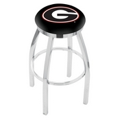 L8C2C - Chrome Georgia G Swivel Bar Stool with Accent Ring by Holland Bar Stool Company