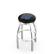 L8C2C - Chrome Grand Valley State Swivel Bar Stool with Accent Ring by Holland Bar Stool Company