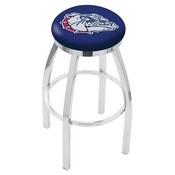 L8C2C - Chrome Gonzaga Swivel Bar Stool with Accent Ring by Holland Bar Stool Company