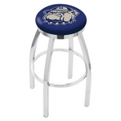 L8C2C - Chrome Georgetown Swivel Bar Stool with Accent Ring by Holland Bar Stool Company