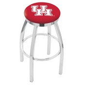 L8C2C - Chrome Houston Swivel Bar Stool with Accent Ring by Holland Bar Stool Company