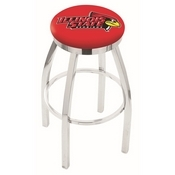 L8C2C - Chrome Illinois State Swivel Bar Stool with Accent Ring by Holland Bar Stool Company