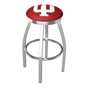 L8C2C - Chrome Indiana Swivel Bar Stool with Accent Ring by Holland Bar Stool Company