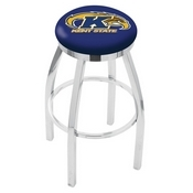 L8C2C - Chrome Kent State Swivel Bar Stool with Accent Ring by Holland Bar Stool Company