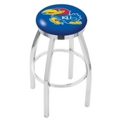 L8C2C - Chrome Kansas Swivel Bar Stool with Accent Ring by Holland Bar Stool Company