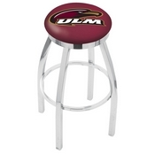 L8C2C - Chrome Louisiana-Monroe Swivel Bar Stool with Accent Ring by Holland Bar Stool Company