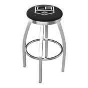 L8C2C - Chrome Los Angeles Kings Swivel Bar Stool with Accent Ring by Holland Bar Stool Company