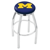 L8C2C - Chrome Michigan Swivel Bar Stool with Accent Ring by Holland Bar Stool Company