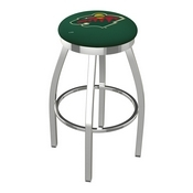 L8C2C - Chrome Minnesota Wild Swivel Bar Stool with Accent Ring by Holland Bar Stool Company