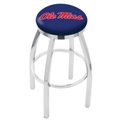 L8C2C - Chrome Ole' Miss Swivel Bar Stool with Accent Ring by Holland Bar Stool Company