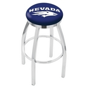 L8C2C - Chrome Nevada Swivel Bar Stool with Accent Ring by Holland Bar Stool Company