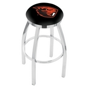 L8C2C - Chrome Oregon State Swivel Bar Stool with Accent Ring by Holland Bar Stool Company