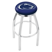 L8C2C - Chrome Penn State Swivel Bar Stool with Accent Ring by Holland Bar Stool Company