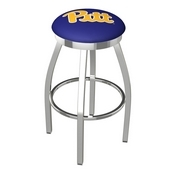 L8C2C - Chrome Pitt Swivel Bar Stool with Accent Ring by Holland Bar Stool Company
